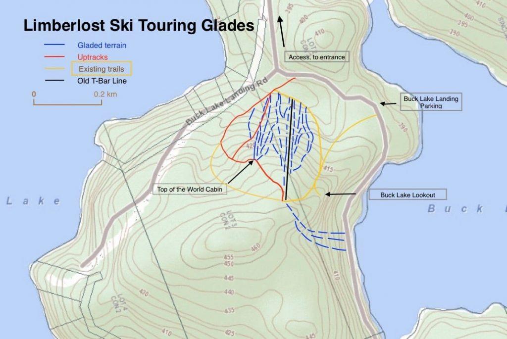 Limberlost Ski Touring Glades Map
