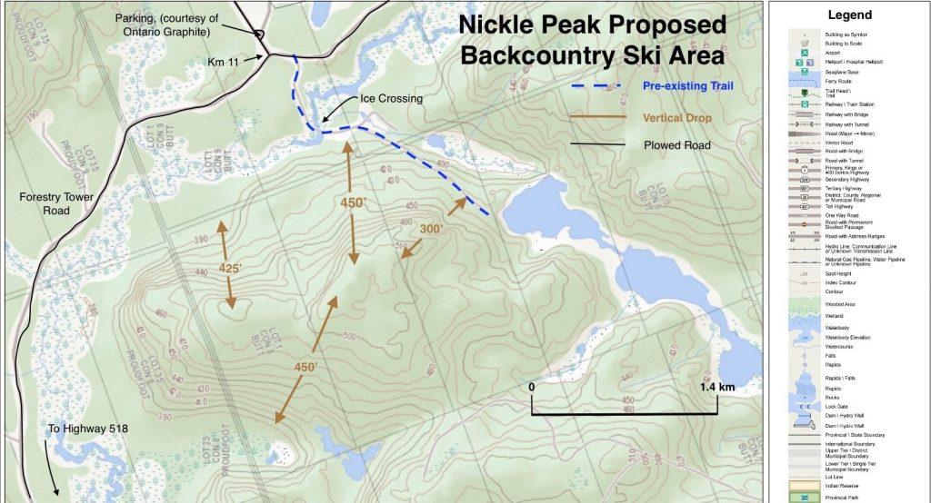 Nickle Peak Ski Trail Proposal Map
