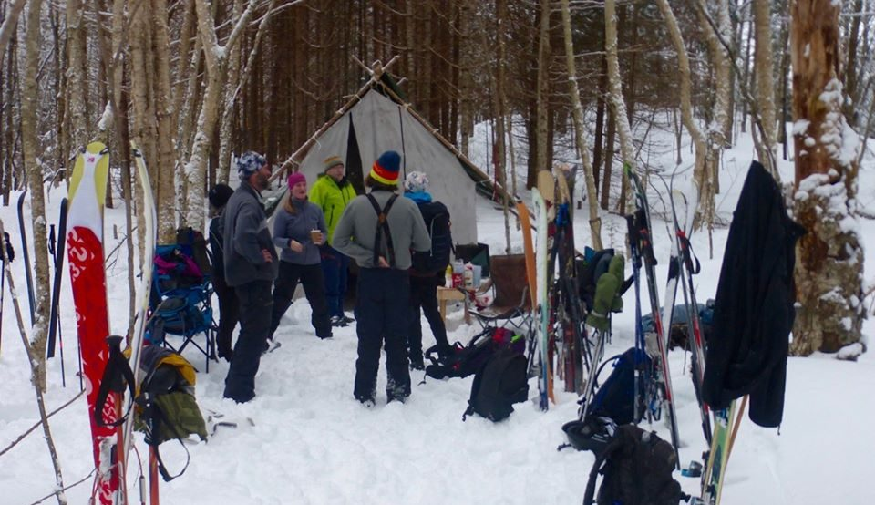 A Twigfest gathering at the lodge.